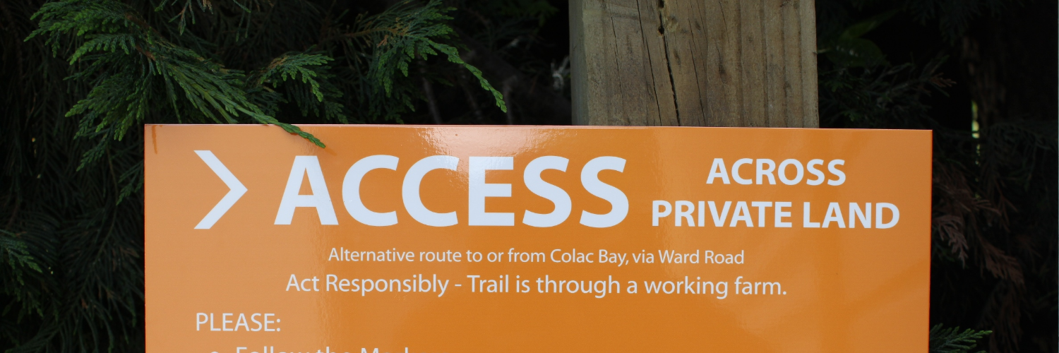 TAT Colac Bay Access Sign