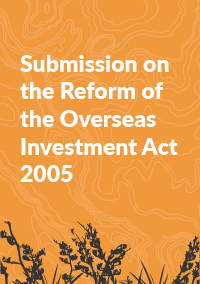 Submission on the Reform of the Overseas Investment Act 2005 100